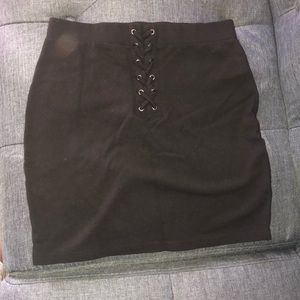 Forever 21 Mini Lace Up Skirt